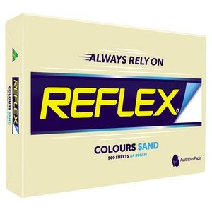 REFLEX COLOURED COPY PAPER A4 SAND  (price excludes gst)