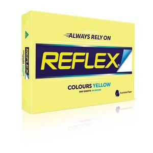 REFLEX COLOURED COPY PAPER A4 YELLOW  (price excludes gst)