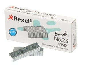 REXEL BAMBI STAPLES #25 (Box 1500)