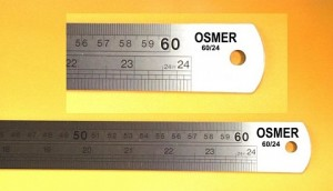 METAL RULER 60cm METRIC/IMPERIAL #6024  (price excludes gst)