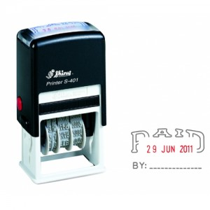 SHINY SELF-INKING DATER S-401 PAID (price excludes gst)