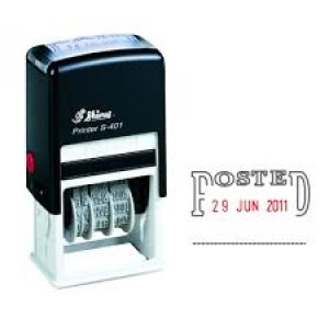 SHINY SELF-INKING DATER S-406 POSTED (price excludes gst)