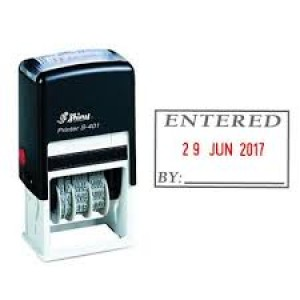 SHINY SELF-INKING DATER S-407 ENTERED (price excludes gst)
