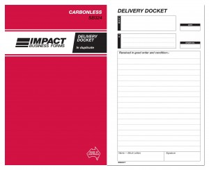 IMPACT CARBONLESS DELIVERY BOOK DUP. (8x5) SB-324 (price excludes gst)