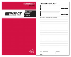 IMPACT CARBONLESS DELIVERY BOOK TRIP. (8x5) SB-324A (price excludes gst)