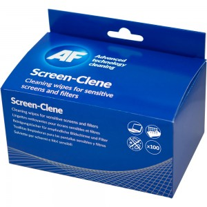 AF BRAND SCREEN CLENE WIPES BOX 100