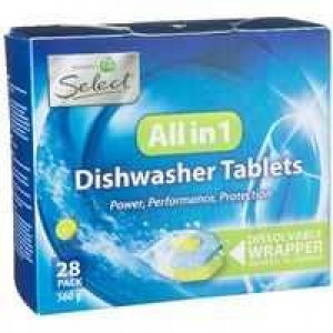 SELECT DISHWASHER TABLETS LEMON BOX 28  (price excludes gst)