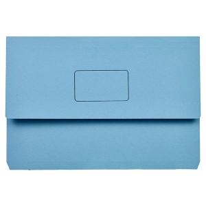 DOCUMENT WALLET SLIMPICK FCAP BLUE PKT 10