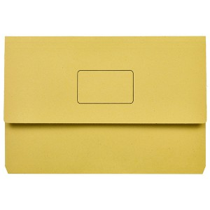DOCUMENT WALLET SLIMPICK FCAP YELLOW