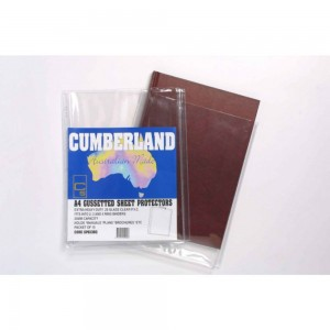 GUSSETTED POCKET A4 25mm CUMBERLAND #SP6138G (PKT 10) (price excludes gst)