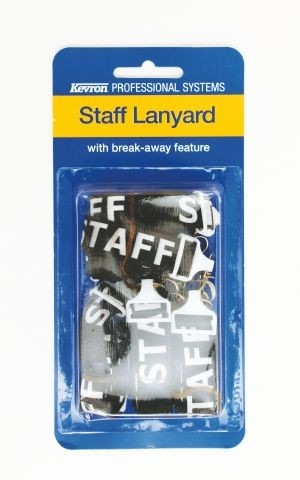 STAFF PRINTED LANYARD WITH SAFETY RELEASE & D CLIP (PKT 5)  (price excludes gst)