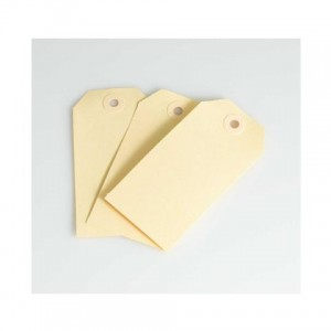 MANILLA SHIPPING TAGS SIZE 1 (70mm x 35mm) BUFF Box 1000 (price excludes gst)