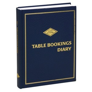 2021  TABLE BOOKING DIARY A4 ZIONS