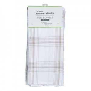 COTTON TEA TOWELS SET PKT 5  (price excludes gst)
