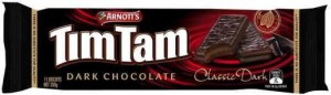 TIM TAMS BISCUITS CLASSIC DARK 200g  (price excludes gst)
