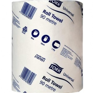 HAND TOWEL ROLL TORK 90m 2187951 Box 16  (price excludes gst)