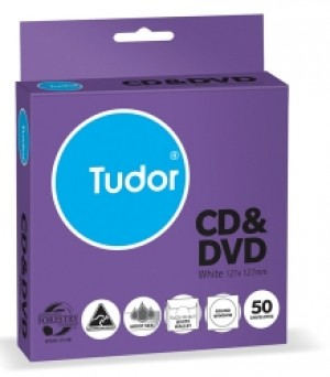 CD/DVD ENVELOPES TUDOR (PKT 50) 113500 (price excludes gst)