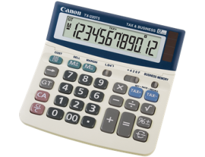 CANON TX-220TS TAX CALCULATOR (price excludes gst)