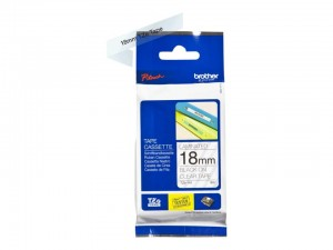 BROTHER TAPE TZ-141 18mm BLACK ON CLEAR