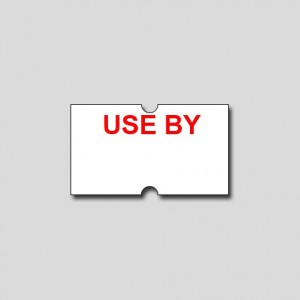 USE BY - FREEZER GRADE LABELS 21mm x 12  (Box 10 Rolls)
