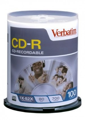 CD - Recordable 700MB 52x White Printable VERBATIM Spindle 100 94554  (price excludes gst)