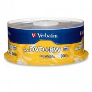 DVD + Rewritable  4.7GB 4x VERBATIM Spindle 30 94834 (price excludes gst)