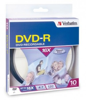 DVD - Recordable 4.7GB 16x VERBATIM Pkt 10  95100  (price excludes gst)
