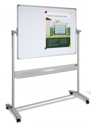 CORPORATE MOBILE WHITEBOARD WITH STAND 1800MM X 1200MM DOUBLE SIDED VISION VM1812 (price excludes gst)