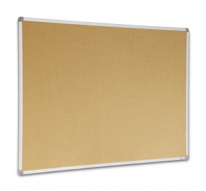 CORKBOARD 1500mm x 900mm PREMIUM METAL FRAME VISIONCHART (price excludes gst)