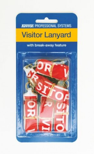 VISITOR PRINTED LANYARD WITH SAFETY RELEASE & D CLIP (PKT 5)  (price excludes gst)
