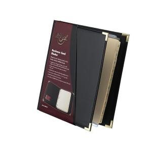 BUSINESS CARD BOOK A4 WATERVILLE #W80-200 BLACK (price excludes GST)