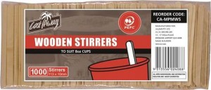 WOODEN STIRRERS PKT 1000  (price excludes gst)
