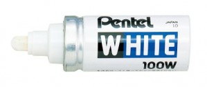 PENTEL X100W PAINT MARKER BROAD BULLET 6.5mm NIB WHITE (price excludes gst)