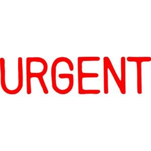 X STAMPER 1103 URGENT RED (price excludes gst)