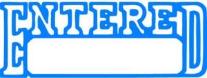 X STAMPER 1205 ENTERED/DATE BLUE (price excludes gst)