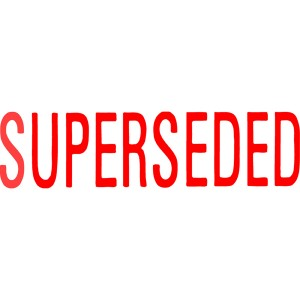 X STAMPER 1366 SUPERSEDED RED