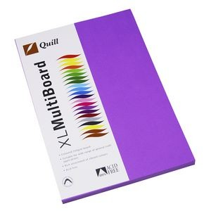 QUILL XL MULTI BOARD LILAC 200 gsm (PKT 50)  (price excludes gst)