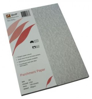 QUILL PARCHMENT PAPER A4 LILAC 89gsm (PKT 100)  (price excludes gst)