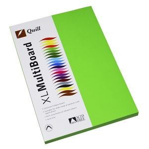 QUILL XL MULTI BOARD GREEN 200 gsm (PKT 50)  (price excludes gst)