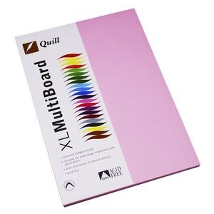 QUILL XL MULTI BOARD MUSK PINK 200 gsm (PKT 50)  (price excludes gst)