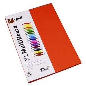QUILL XL MULTI BOARD ORANGE 200 gsm (PKT 50)  (price excludes gst)