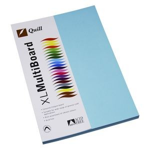 QUILL XL MULTI BOARD POWDER BLUE 200 gsm (PKT 50)  (price excludes gst)