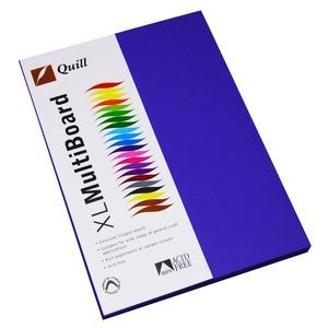 QUILL XL MULTI BOARD ROYAL BLUE 200 gsm (PKT 50)  (price excludes gst)