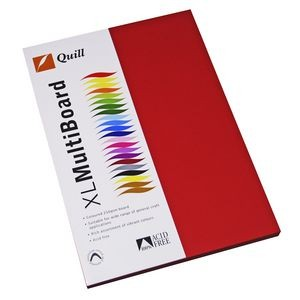 QUILL XL MULTI BOARD RED 200 gsm (PKT 50)  (price excludes gst)