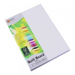 QUILL XL MULTI BOARD WHITE A4 200 gsm (PKT 100)  (price excludes gst)