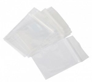Zip Lock Resealable Bag 153mm x 205mm x 50um Pkt 100